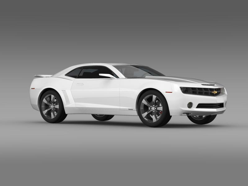 chevrolet camaro concept 3d model 3ds max fbx c4d lwo ma mb hrc xsi obj 143391