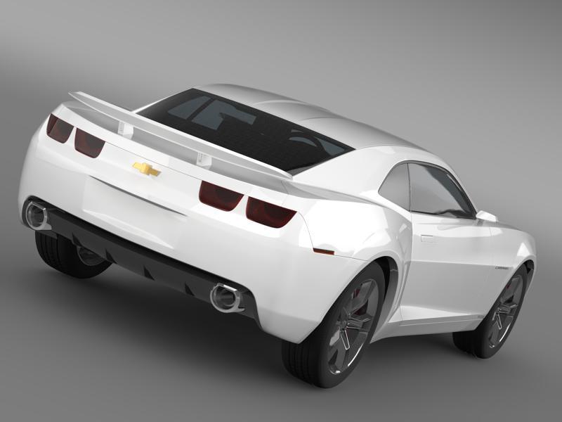 chevrolet camaro concept 3d model 3ds max fbx c4d lwo ma mb hrc xsi obj 143394