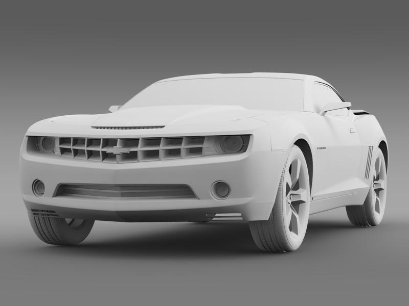 chevrolet camaro concept 3d model 3ds max fbx c4d lwo ma mb hrc xsi obj 143395