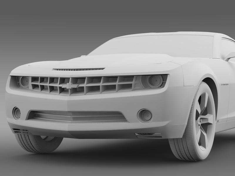 chevrolet camaro concept 3d model 3ds max fbx c4d lwo ma mb hrc xsi obj 143396