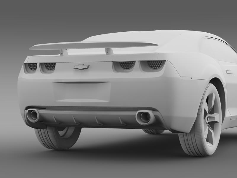 chevrolet camaro concept 3d model 3ds max fbx c4d lwo ma mb hrc xsi obj 143397