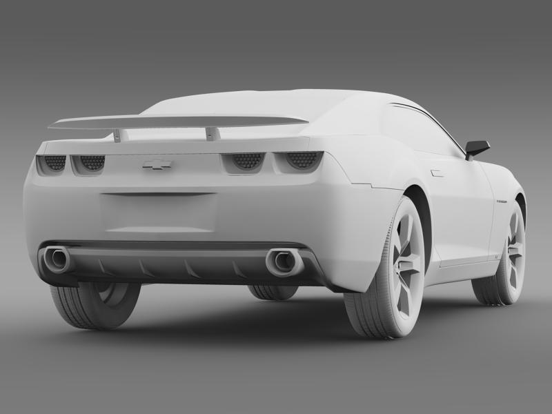 chevrolet camaro concept 3d model 3ds max fbx c4d lwo ma mb hrc xsi obj 143398