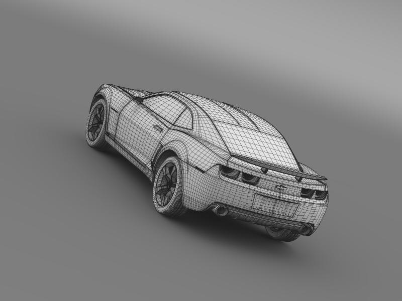chevrolet camaro concept 3d model 3ds max fbx c4d lwo ma mb hrc xsi obj 143401