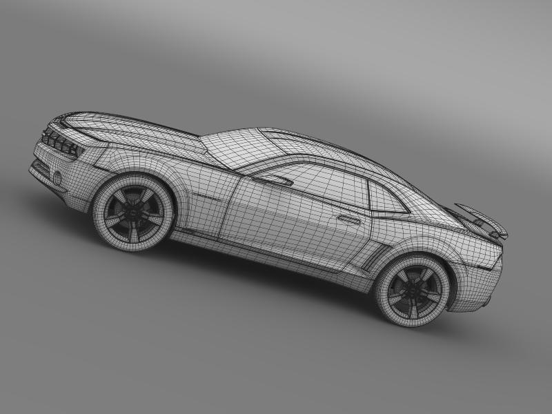 chevrolet camaro concept 3d model 3ds max fbx c4d lwo ma mb hrc xsi obj 143402