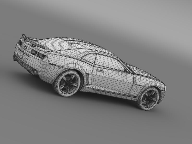 chevrolet camaro concept 3d model 3ds max fbx c4d lwo ma mb hrc xsi obj 143403
