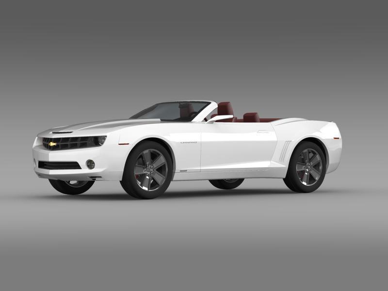 chevrolet camaro convertible concept 3d model 3ds max fbx c4d lwo ma mb hrc xsi obj 143415