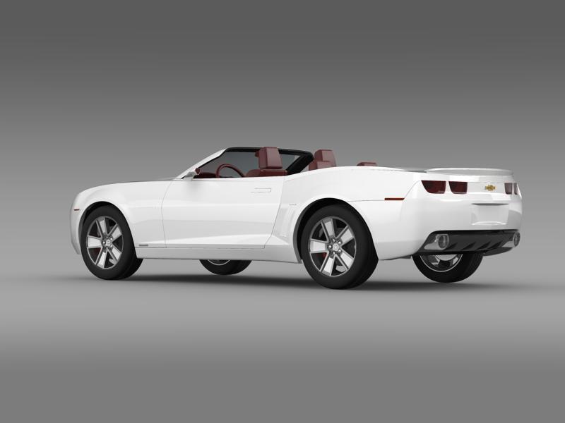 chevrolet camaro convertible concept 3d model 3ds max fbx c4d lwo ma mb hrc xsi obj 143417