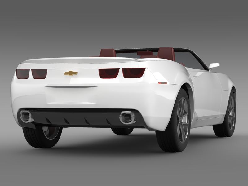 chevrolet camaro convertible concept 3d model 3ds max fbx c4d lwo ma mb hrc xsi obj 143420