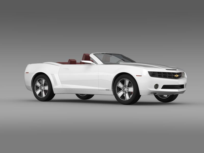 chevrolet camaro convertible concept 3d model 3ds max fbx c4d lwo ma mb hrc xsi obj 143423