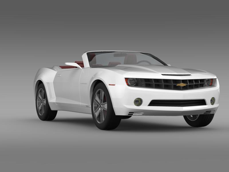 chevrolet camaro convertible concept 3d model 3ds max fbx c4d lwo ma mb hrc xsi obj 143424