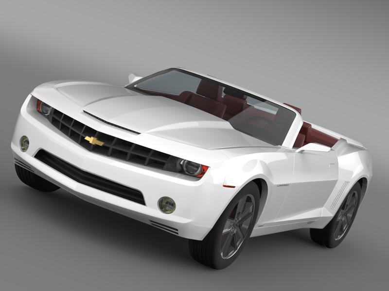chevrolet camaro convertible concept 3d model 3ds max fbx c4d lwo ma mb hrc xsi obj 143425