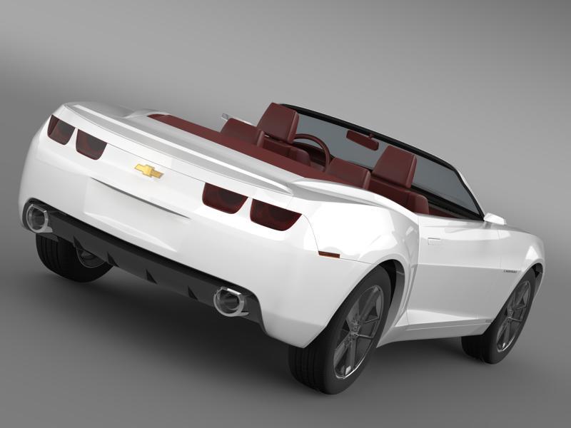 chevrolet camaro convertible concept 3d model 3ds max fbx c4d lwo ma mb hrc xsi obj 143426
