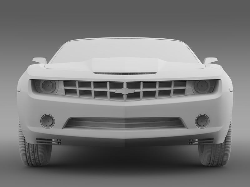 chevrolet camaro convertible concept 3d model 3ds max fbx c4d lwo ma mb hrc xsi obj 143427