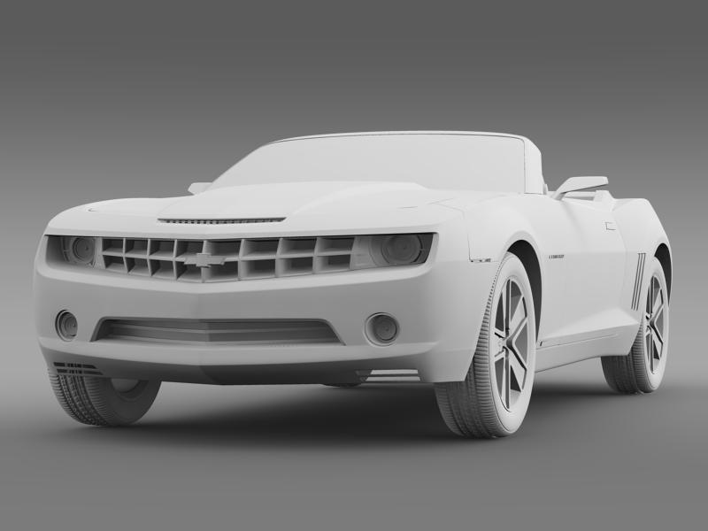 chevrolet camaro convertible concept 3d model 3ds max fbx c4d lwo ma mb hrc xsi obj 143428
