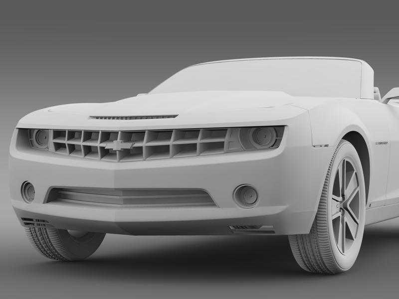 chevrolet camaro convertible concept 3d model 3ds max fbx c4d lwo ma mb hrc xsi obj 143429