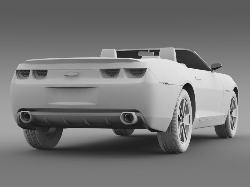 chevrolet camaro convertible concept 3d model 3ds max fbx c4d lwo ma mb hrc xsi obj 143431