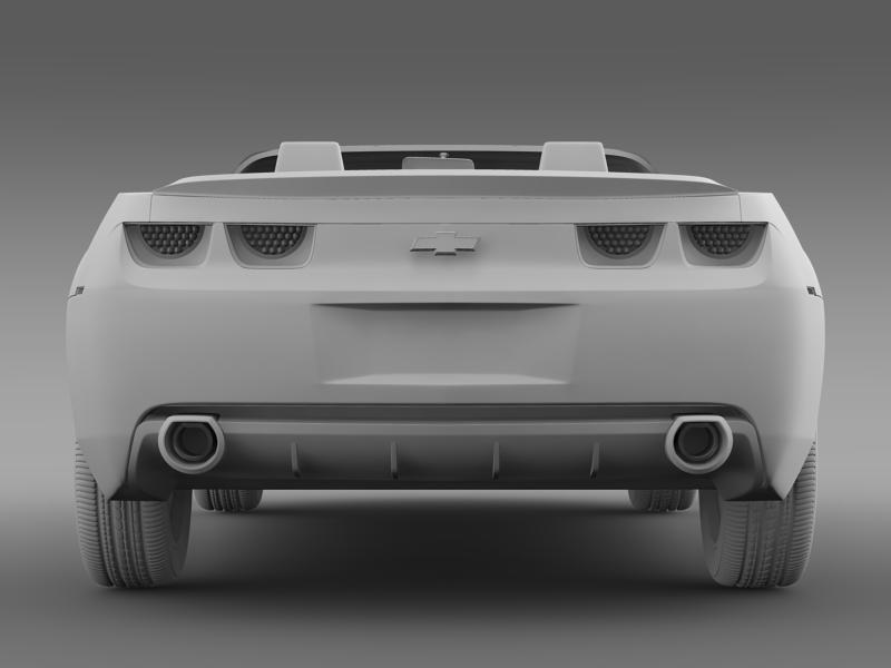chevrolet camaro convertible concept 3d model 3ds max fbx c4d lwo ma mb hrc xsi obj 143432