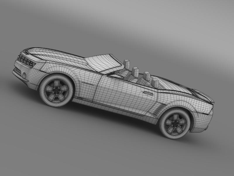 chevrolet camaro convertible concept 3d model 3ds max fbx c4d lwo ma mb hrc xsi obj 143433