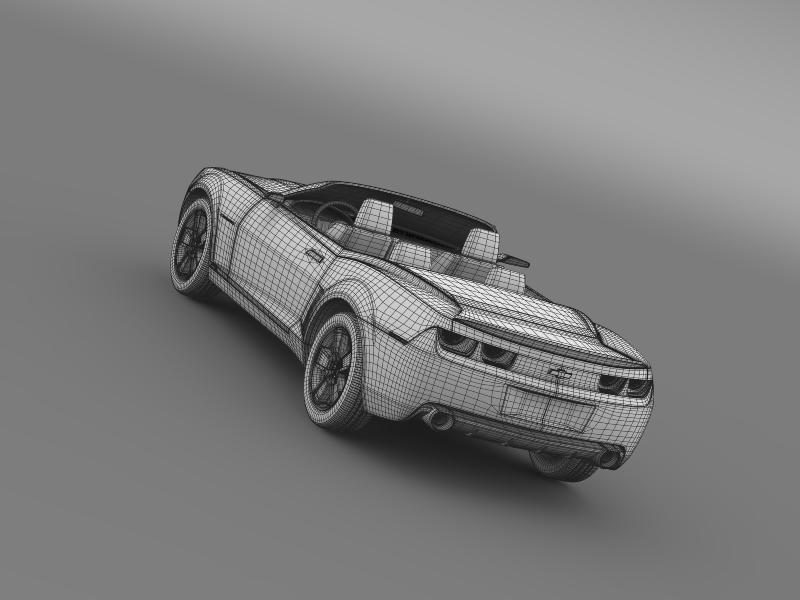 chevrolet camaro convertible concept 3d model 3ds max fbx c4d lwo ma mb hrc xsi obj 143434