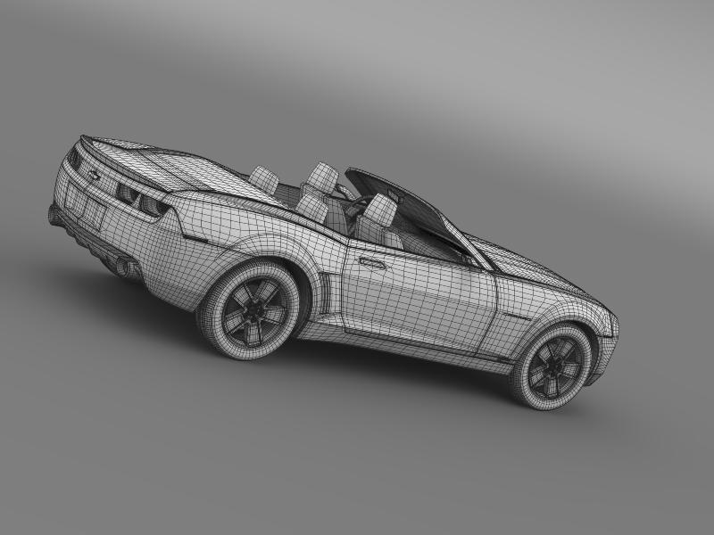 chevrolet camaro convertible concept 3d model 3ds max fbx c4d lwo ma mb hrc xsi obj 143435