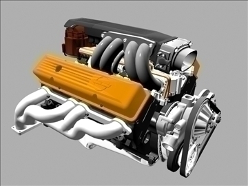 chevrolet tpi small block engine 3d model 3ds dxf 99002