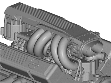 chevrolet tpi small block engine 3d model 3ds dxf 99005