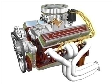 chevrolet v8 motor 3d model 3ds 87992