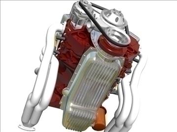 chevrolet v8 motor 3d model 3ds 87993