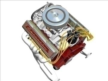 chevrolet v8 motor 3d model 3ds 87994