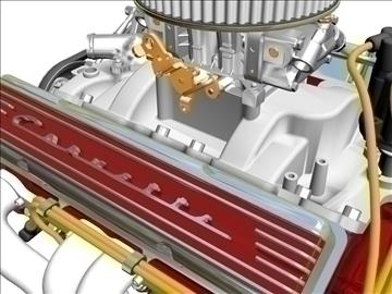 chevrolet v8 motor 3d model 3ds 87995