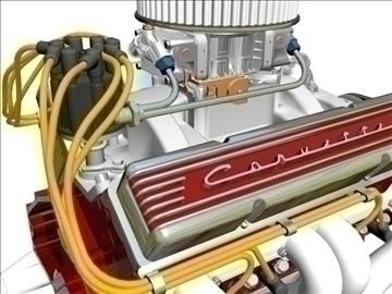 chevrolet v8 motor 3d model 3ds 87996