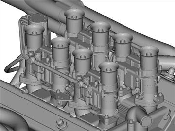 chevrolet weber v8 motor 3d model 3ds dxf 110873