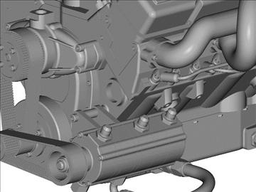chevrolet weber v8 motor 3d model 3ds dxf 110874