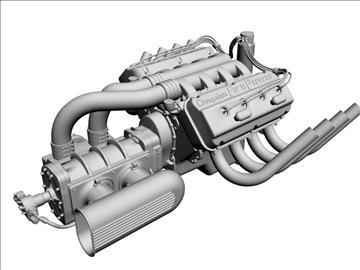 chrysler hemi potvin engine 3d model 3ds dxf 99512