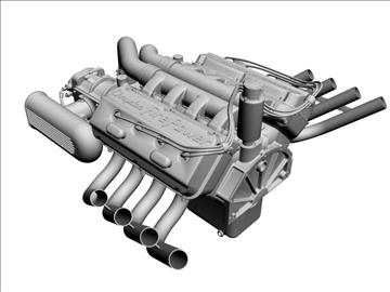 chrysler hemi potvin engine 3d model 3ds dxf 99513