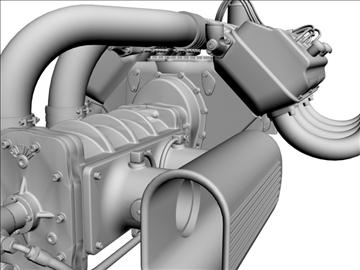 chrysler hemi potvin engine 3d model 3ds dxf 99514