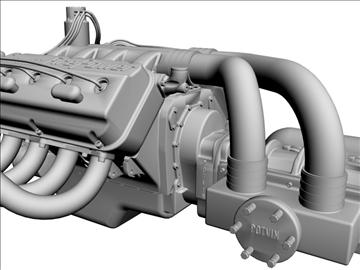 chrysler hemi potvin engine 3d model 3ds dxf 99515