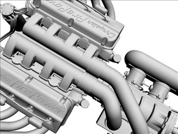 chrysler hemi potvin engine 3d model 3ds dxf 99516