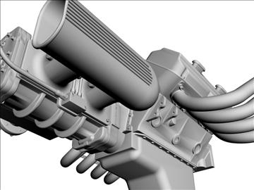 chrysler hemi potvin engine 3d model 3ds dxf 99517