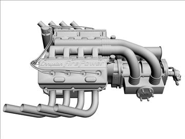 chrysler hemi potvin engine 3d model 3ds dxf 99518