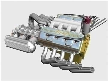 chrysler hemi potvin engine 3d model 3ds dxf 99519