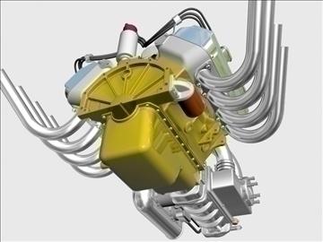chrysler hemi potvin engine 3d model 3ds dxf 99520