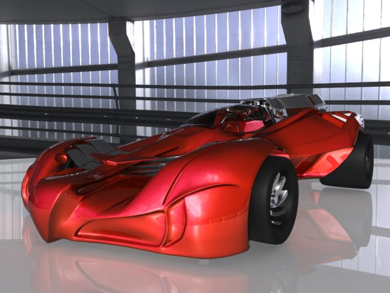 concept car 3d model 3ds fbx dae ma mb obj 116320