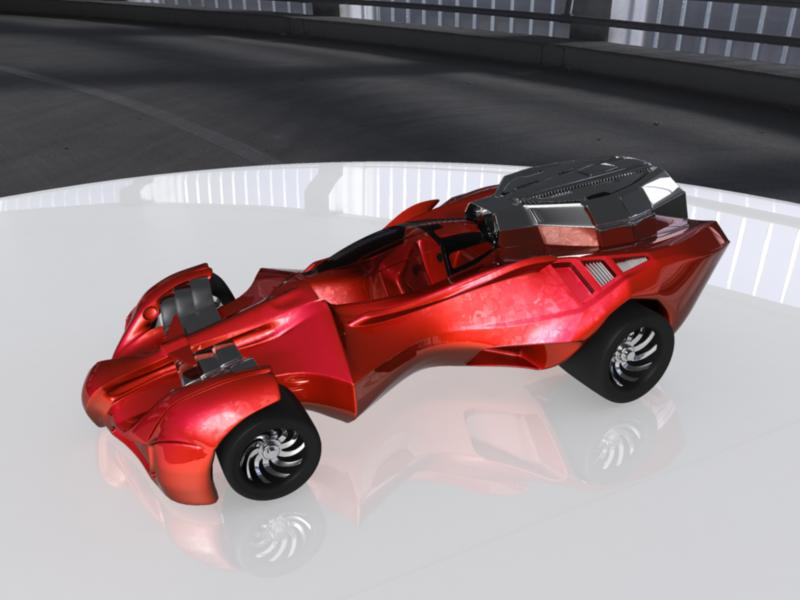 concept car 3d model 3ds fbx dae ma mb obj 116321