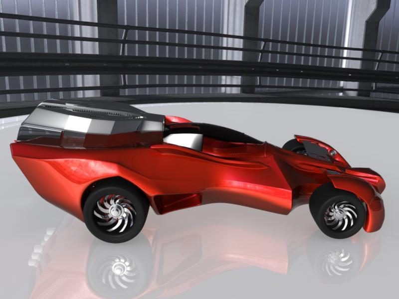 concept car 3d model 3ds fbx dae ma mb obj 116322