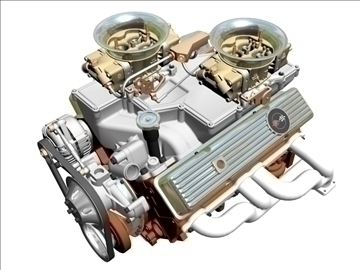 cross-ram chevrolet v8 engine 3d model 3ds 88828