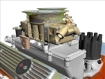 cross-ram chevrolet v8 engine 3d model 3ds 88831