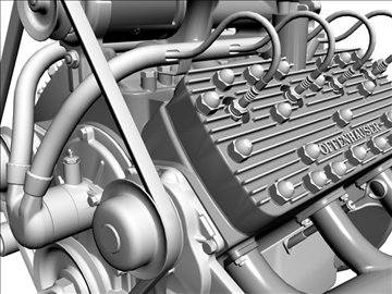 custom early flathead v8 engine 3d model 3ds dxf 99303