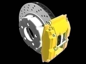 disc brake rotor caliper 3d model 3ds dxf 88114