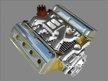 early chrysler hemi v8 engine 3d model 3ds dxf 88000